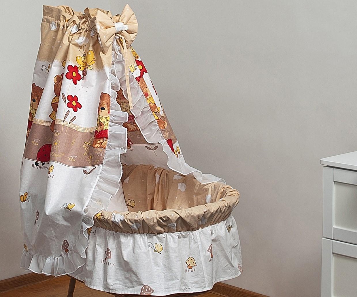 Bettwäsche set für moseskorb babykorb stubenwagen mit baumwolle
